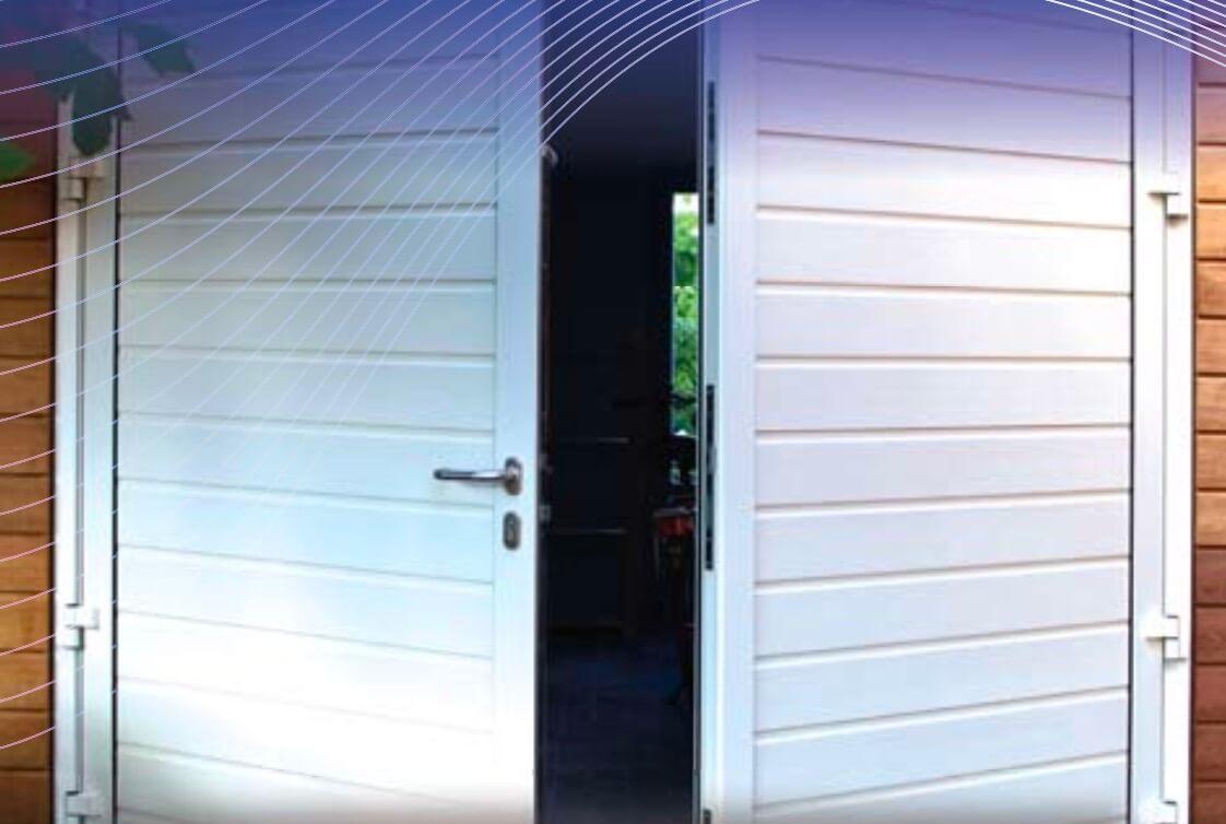 Houten Garagedeuren Prijs : Openslaande garagedeuren bengs deuren groningen